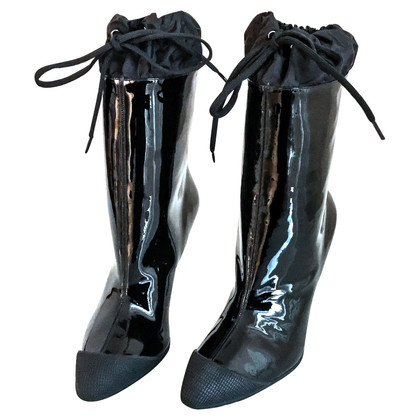 Miu Miu Black patent Leather Boots