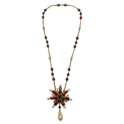 Chanel Kette mit Gripoix-Perlen