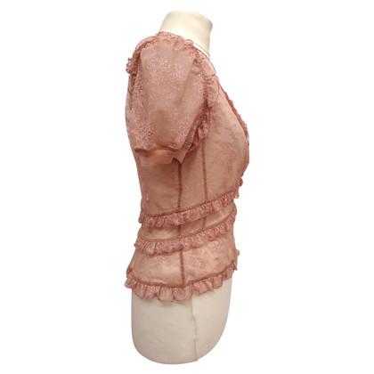Louis Vuitton Bluse aus Spitze mit Rüschen