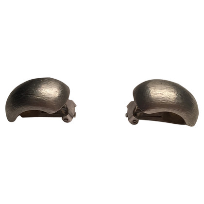 Christian Dior Silver colored ear clips