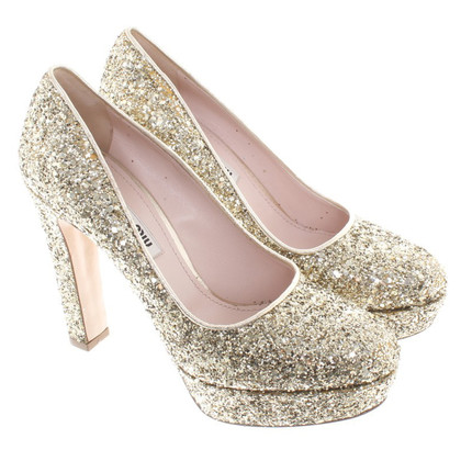 Miu Miu Gold color High Heels