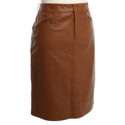 Ralph Lauren skirt brown leather