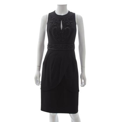 Balmain Ärmelloses Kleid in Schwarz
