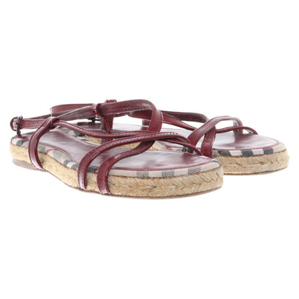 Burberry Sandalen in Bordeaux