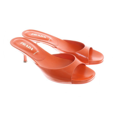 Prada Mules in orange