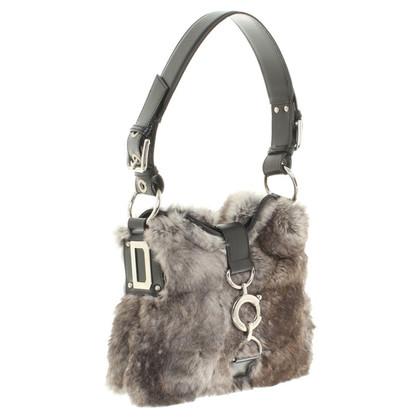 Dolce & Gabbana Borsa con bordo in pelliccia