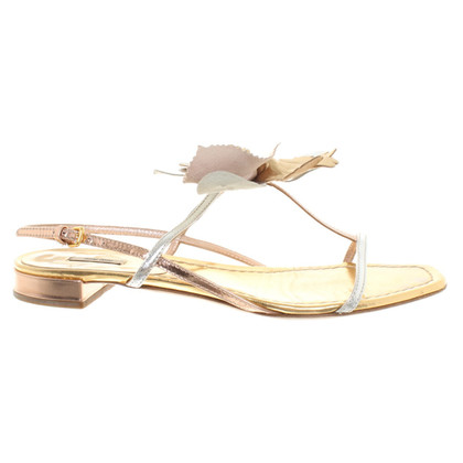Miu Miu Sandals in Metallic