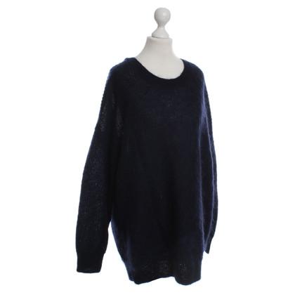 Cos Donker blauwe gebreide pullover