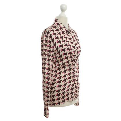 Schumacher Silk blouse with pattern