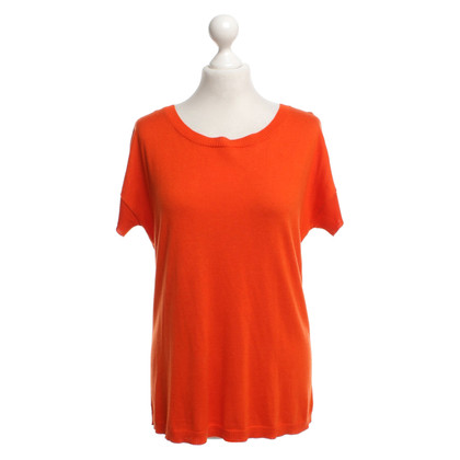 St. Emile Kurzarm-Pullover in Orange