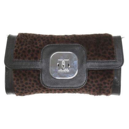 Longchamp Borsa a tracolla con bordo in pelliccia