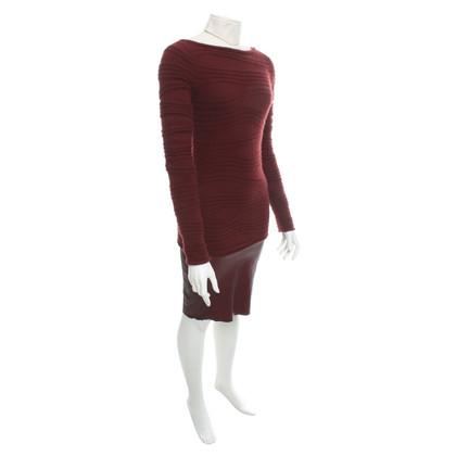 Jitrois Robe en maille avec garniture en cuir