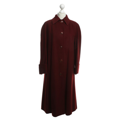 Hermès Wool coat in Bordeaux