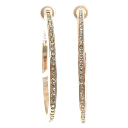 Christian Dior Gold colored hoops