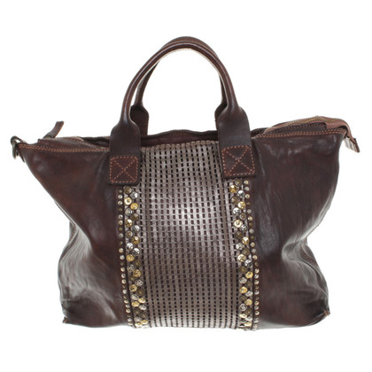 Campomaggi Leather handbag with studs