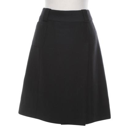Chanel Wollen rok in zwart
