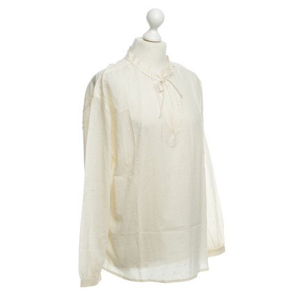 Stefanel Cotton blouse in cream