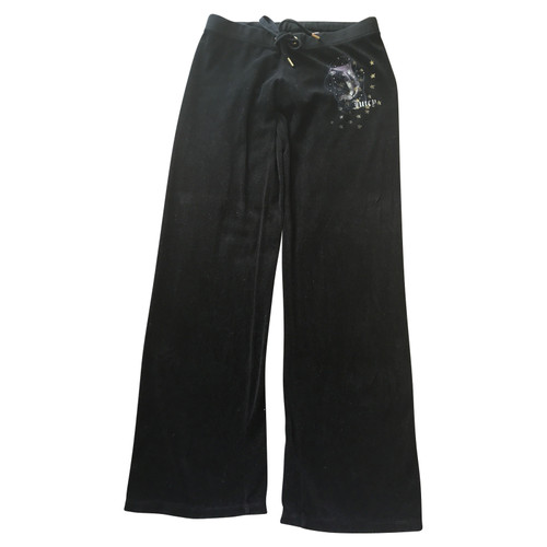 12542d53b2af Juicy Couture Trousers Cotton in Black - Second Hand Juicy Couture ...