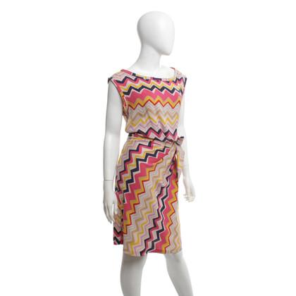 Diane von Furstenberg zijden jurk met patroon