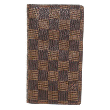 Louis Vuitton Kartenetui aus Damier Ebene Canvas