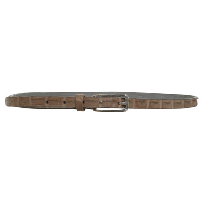 Post & Co Ceinture en cuir de reptile