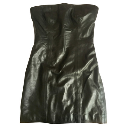 Dsquared2 Leder Shift Kleid