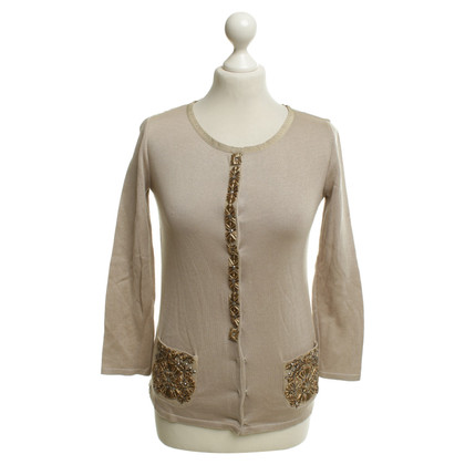 Alberta Ferretti Cardigan with jewelry