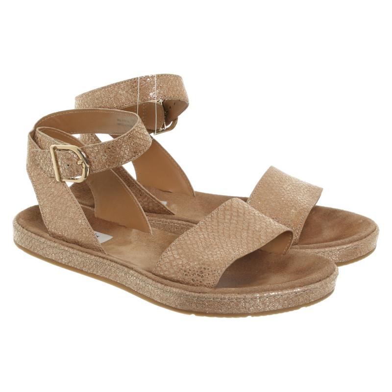 Clarks Sandalen aus Leder in Beige Second Hand Clarks