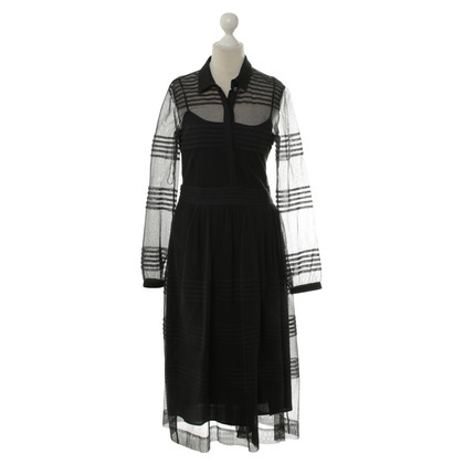 Burberry Semi-transparent dress in black