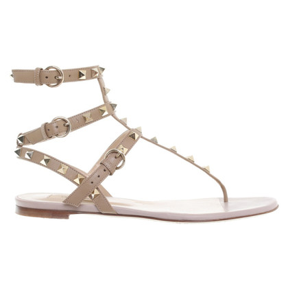 Valentino Rockstud sandals in nude