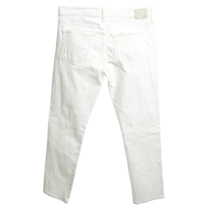 Adriano Goldschmied jeans blanc Destroyed