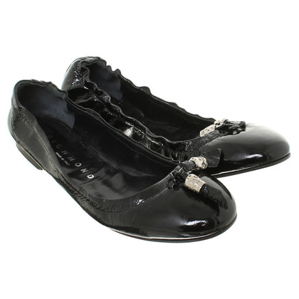 Richmond Ballerine in vernice nera
