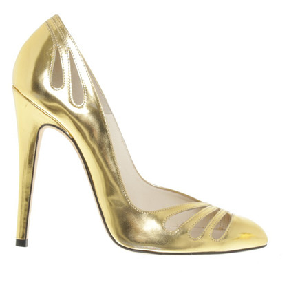 Brian Atwood Pumps in Goldfarben