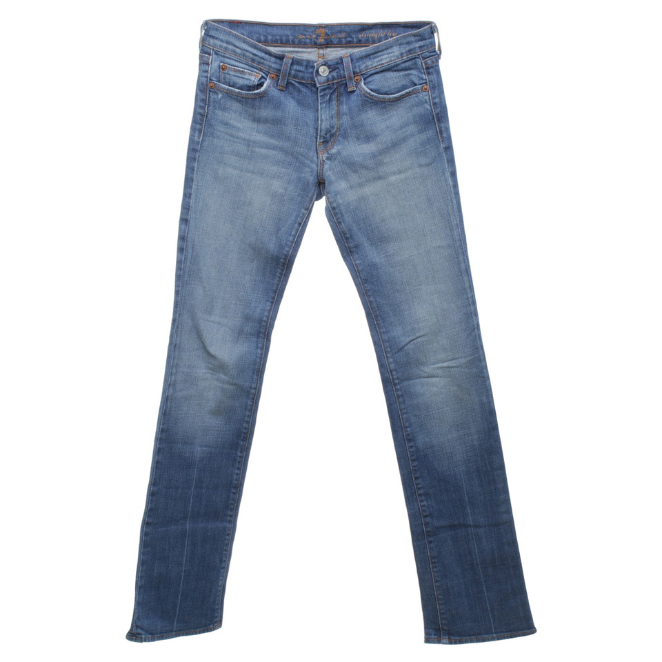 7 for all mankind jeans in blau second hand 7 for all. Black Bedroom Furniture Sets. Home Design Ideas