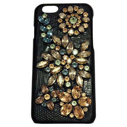 Dolce & Gabbana Crystal Embellished iPhone 6 caso.