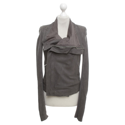 Rick Owens Leather jacket in grey