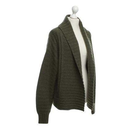 360 Sweater Veste de Cachemire en vert