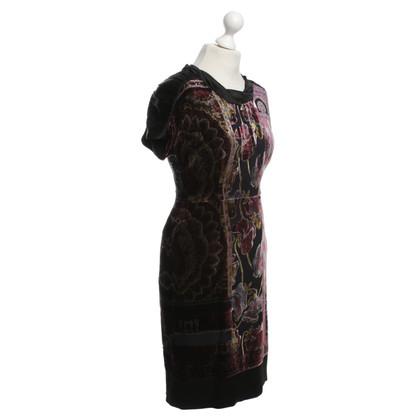 Etro Velvet dress with floral pattern