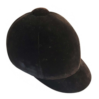 Hermès Vintage Black Velvet Riding Cap