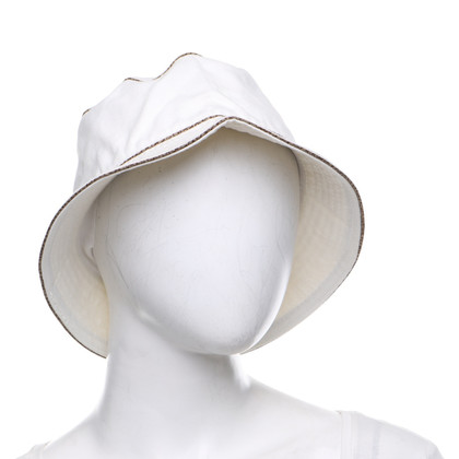 Borbonese Summer hat in white