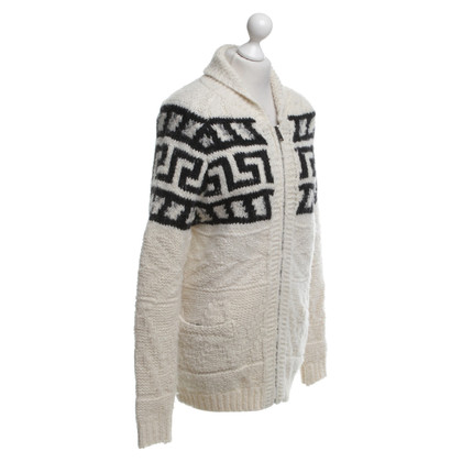Isabel Marant Etoile Cardigan in cream / black