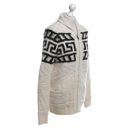 Isabel Marant Etoile Vest in Crème / zwart