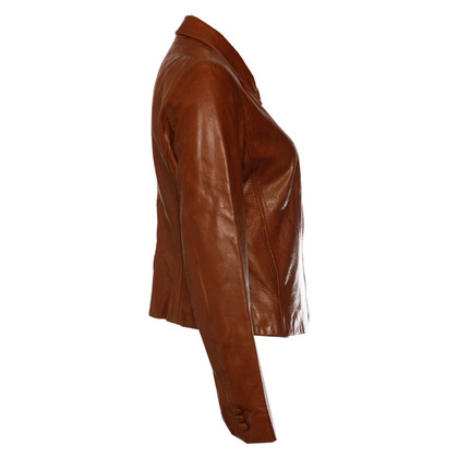 DKNY Leather jacket in cognac