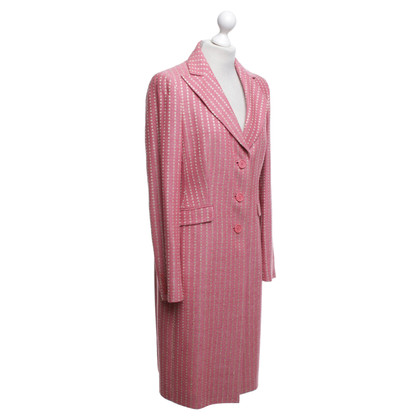 Etro Dotted coat in pink