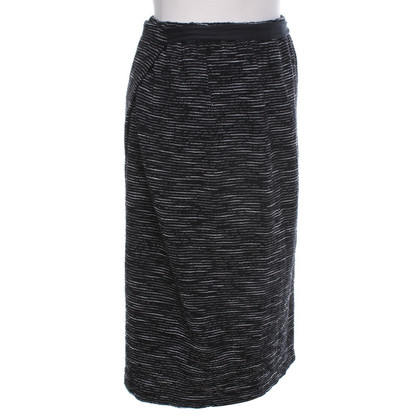 Humanoid Wrap skirt with striped pattern