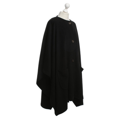 Jil Sander Cape in Schwarz