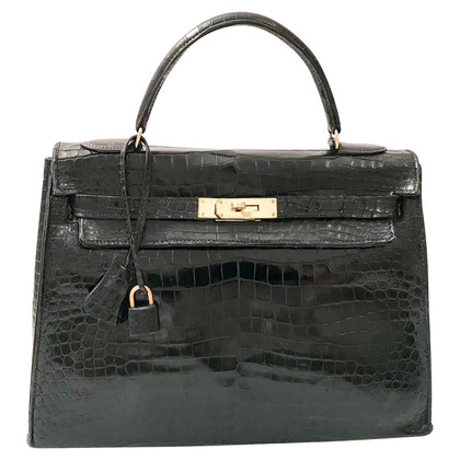 "Hermès ""Kelly Bag 32"" de cuir reptile"