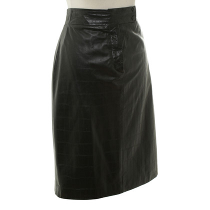 Ralph Lauren Leather skirt in black