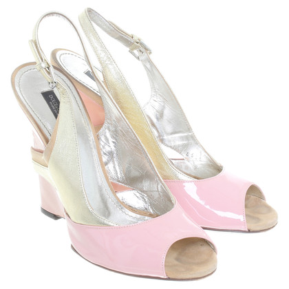 Dolce & Gabbana Patent leather sandals in pink