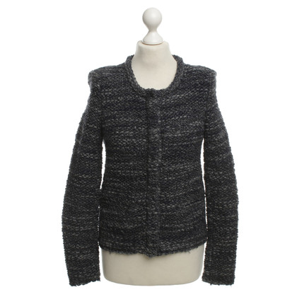 Iro Strickjacke in Blau/Grau